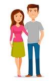 Jeunes couples de bande dessinée illustration stock