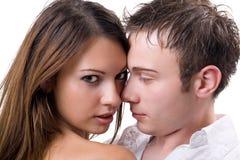 Jeunes couples de beauté images stock