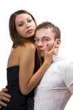 Jeunes couples de beauté. Image stock