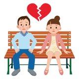 Jeunes couples de catastrophe Photographie stock libre de droits