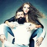 Jeunes couples de charme Photographie stock