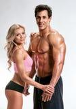 Jeunes couples de forme physique image stock