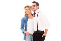 Jeunes couples de hippie Photographie stock