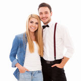 Jeunes couples de hippie Photos stock