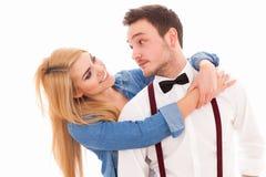 Jeunes couples de hippie Photo stock