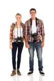 Jeunes couples de randonneur Photo stock
