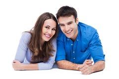 Jeunes couples de sourire Images libres de droits