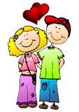 Jeunes couples de valentines Photographie stock