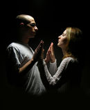 Jeunes couples des années de l'adolescence Photos stock