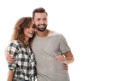Jeunes couples discutant leurs rêves et se dirigeant en avant Photo stock