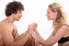 Jeunes couples doux Photos libres de droits