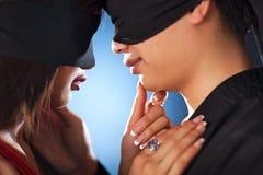 Jeunes couples du Japon Image libre de droits