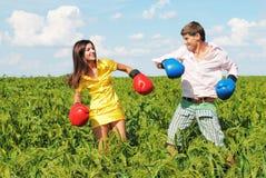 Jeunes couples en désaccord Photographie stock