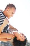 Jeunes couples espiègles Images libres de droits