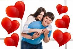 Jeunes couples espiègles Photographie stock