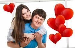 Jeunes couples espiègles Image libre de droits