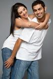 Jeunes couples ethniques heureux Images libres de droits