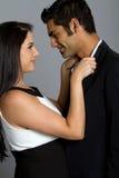 Jeunes couples ethniques heureux Photos stock