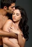 Jeunes couples ethniques sexy Images stock