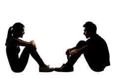 Jeunes couples face à face Photographie stock