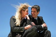 Jeunes couples faisant des affaires Photo libre de droits