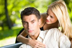Jeunes couples heureux Photographie stock