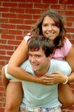Jeunes couples heureux Images stock
