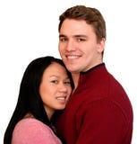 Jeunes couples heureux, d'isolement Photographie stock