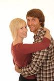 Jeunes couples heureux dans l'amour image libre de droits