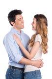 Jeunes couples heureux dans l'amour Photo stock