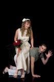 Jeunes couples heureux de mariage Images stock