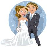Jeunes couples de mariage illustration stock