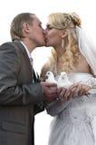 Jeunes couples heureux de nouveaux mariés Photos libres de droits