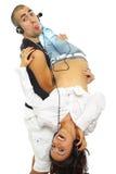 Jeunes couples heureux ensemble Images stock