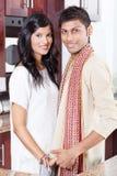 Jeunes couples indiens Photographie stock