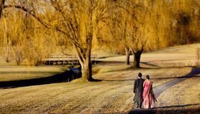 Jeunes couples indiens Images stock
