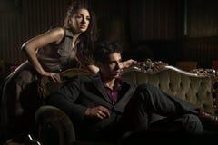 Jeunes couples magnifiques Photos stock