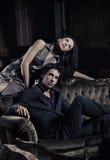 Jeunes couples magnifiques Photographie stock