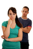 Jeunes couples malheureux Photographie stock