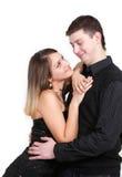 Jeunes couples mignons Photo libre de droits