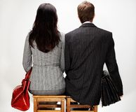 Jeunes couples modernes Images libres de droits
