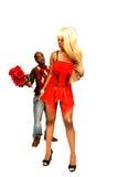 Jeunes couples noirs. Photographie stock libre de droits
