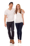Jeunes couples occasionnels Photo stock