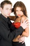 Jeunes couples passionnés Photo stock
