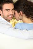 Jeunes couples proches Images stock