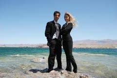 Jeunes couples réussis Photographie stock