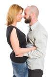 Jeunes couples regardant dans les yeux de chacun Photos stock
