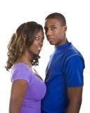 Jeunes couples regardant l'appareil-photo Photographie stock libre de droits