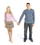 Jeunes couples restant ensemble images stock