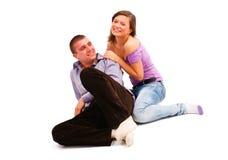 Jeunes couples riants Images stock